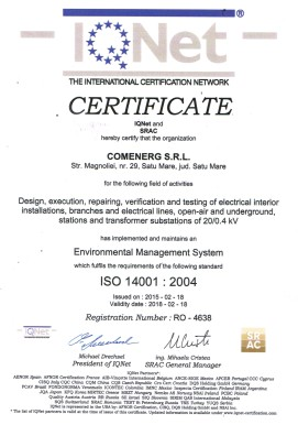 Certificare IQNet ISO-14001