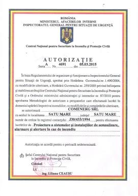 Certificare Semnalizare incediu 2