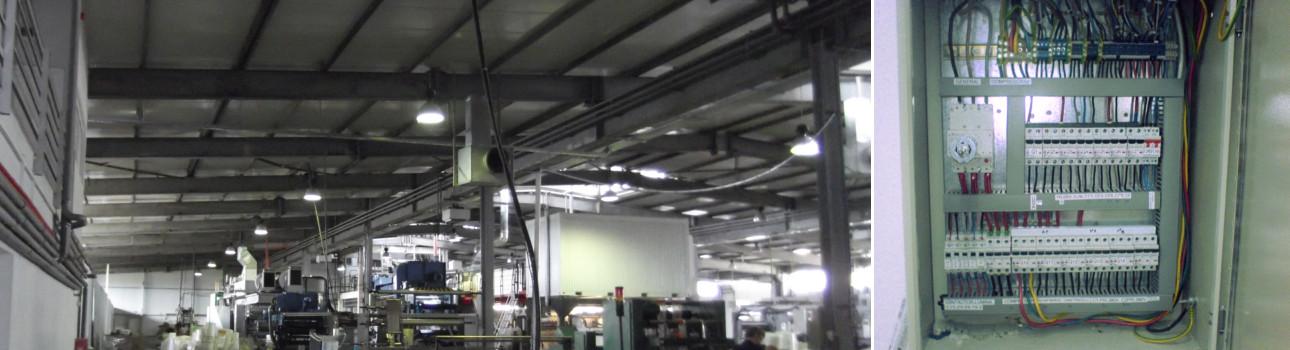 instalatie electrica hala inclusiv tablouri electrice si corpuri de iluminat